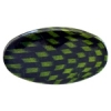 Checker Beads Oval 33x19mm Green/black